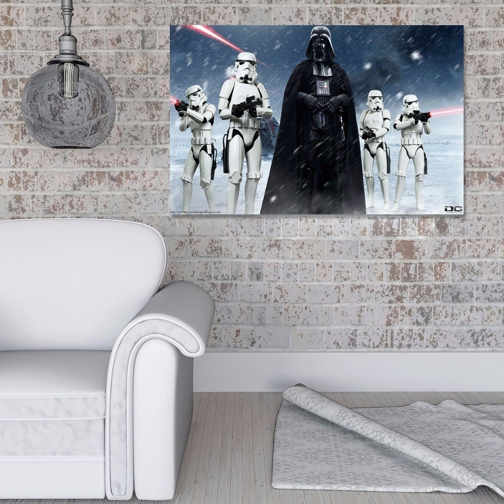 Home Decor Canvas Paintings Wall Art 1 Piece Star Wars Darth Vader Pertaining To Most Current Darth Vader Wall Art (Gallery 18 of 20)