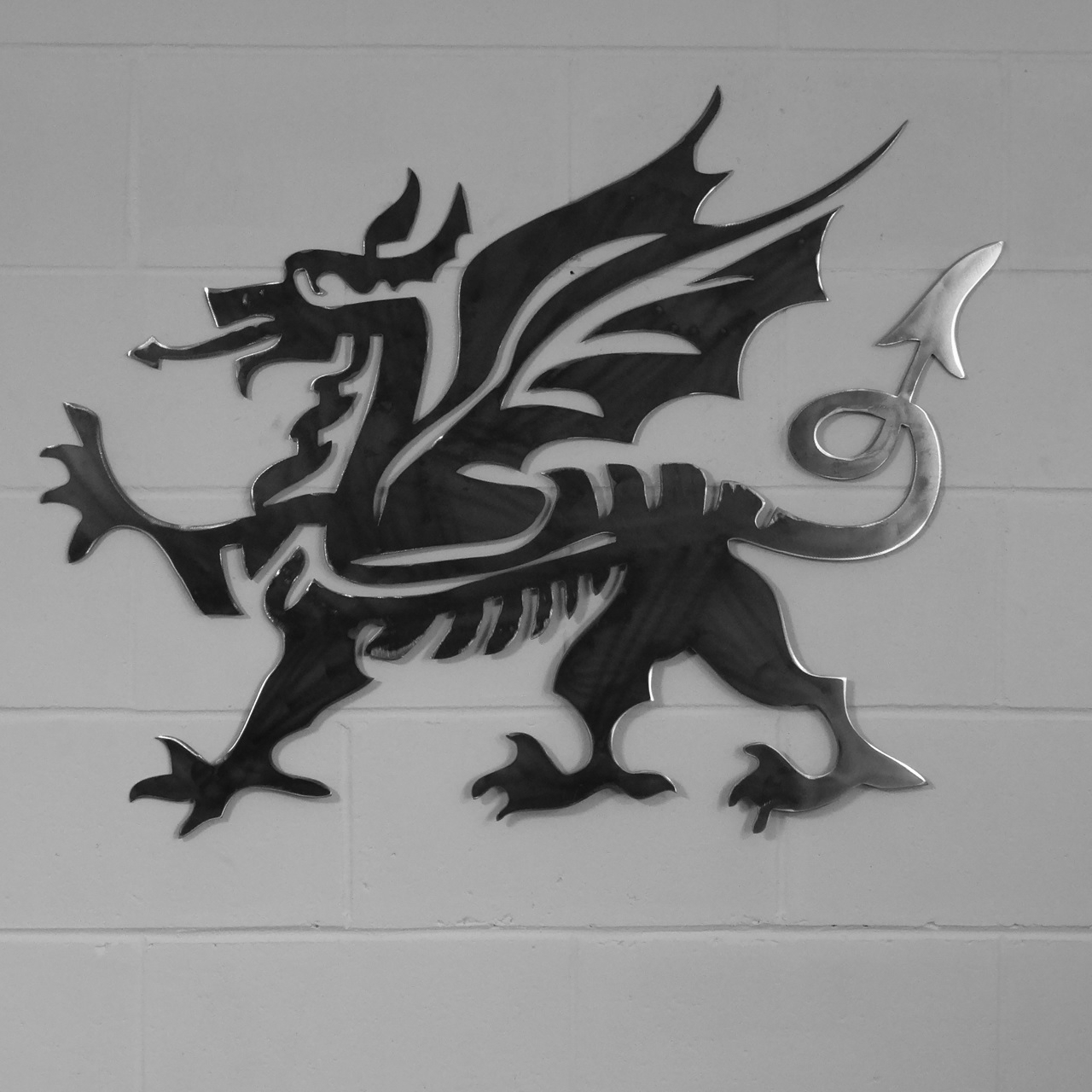 Home & Garden :: Metal Wall Art :: Cymru Welsh Dragon Style Metal In Newest Dragon Wall Art (Gallery 6 of 20)