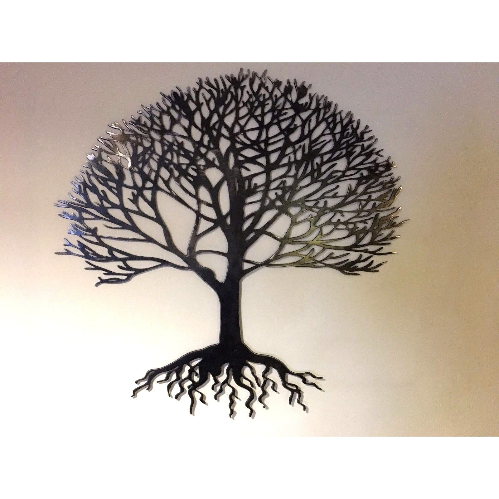 Home & Garden :: Metal Wall Art :: Solid Steel Metal Tree Of Life Regarding Most Recent Tree Of Life Wall Art (Gallery 6 of 15)