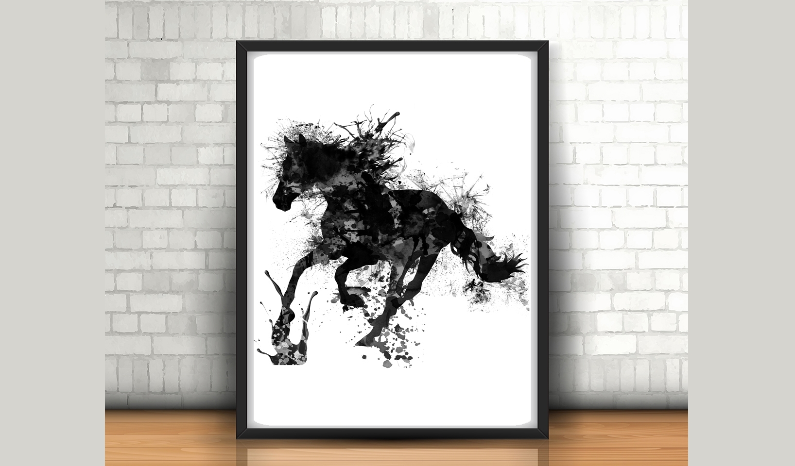 Horse Wall Art – Size 24x36 Inches – H | Design Bundles Inside Most Recently Released Horse Wall Art (View 7 of 15)