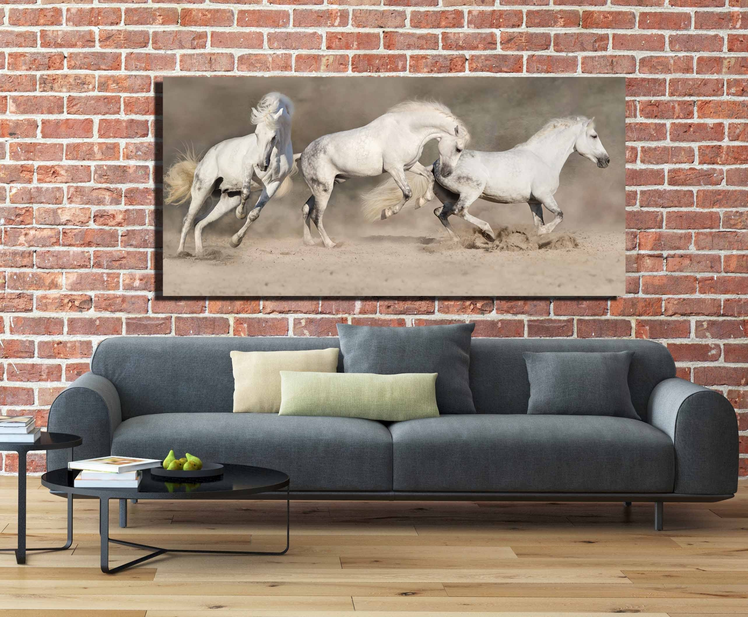 Horse Wall Art,horse Canvas Art,running Horses,running Horses Art With Regard To Most Up To Date Horses Wall Art (Gallery 20 of 20)