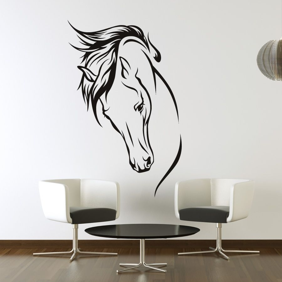Horses Head Wall Art Stickers Wall Decal Transfers | Horse Head With Most Recent Horses Wall Art (View 8 of 20)