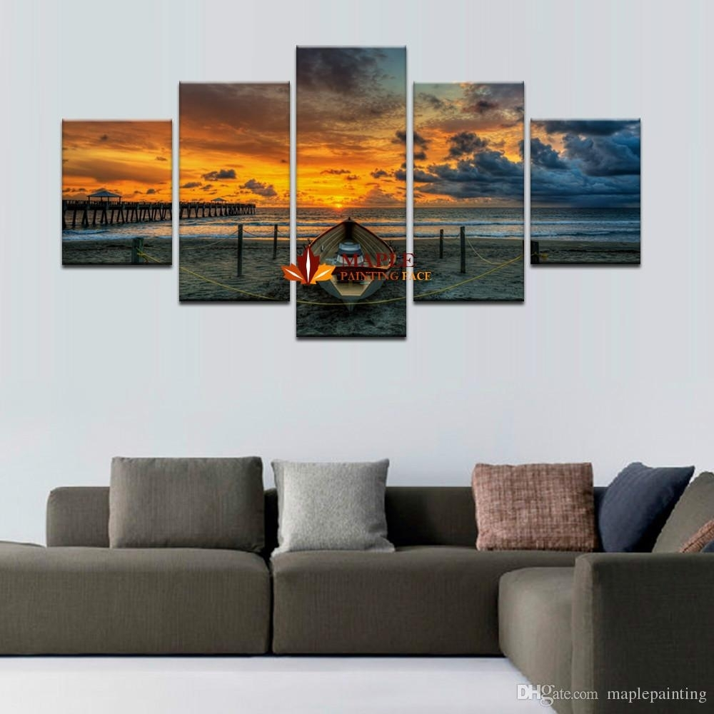 Hot Sell Unframed Large Hd Seaview With Shiptop Rated Canvas Print Throughout Latest Living Room Wall Art (Gallery 7 of 15)