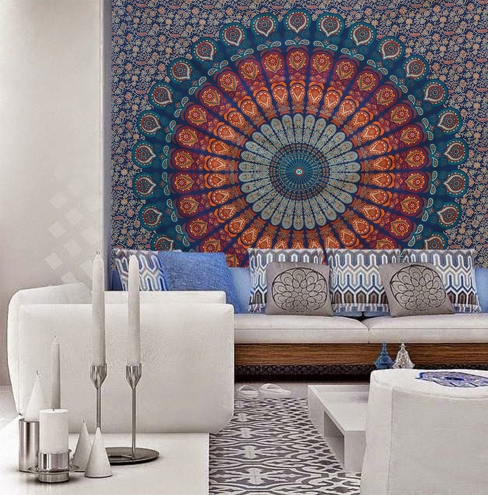 Hot Wall Decorative Tapestry Middle East Arab Vintage Square Wall Regarding Most Recently Released Bohemian Wall Art (Gallery 20 of 20)