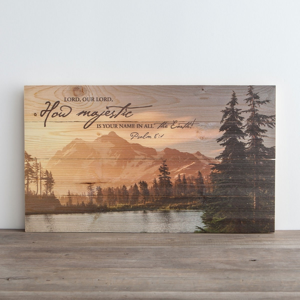 How Majestic Is Your Name – Plank Wall Art | Dayspring For 2017 Plank Wall Art (Gallery 7 of 20)