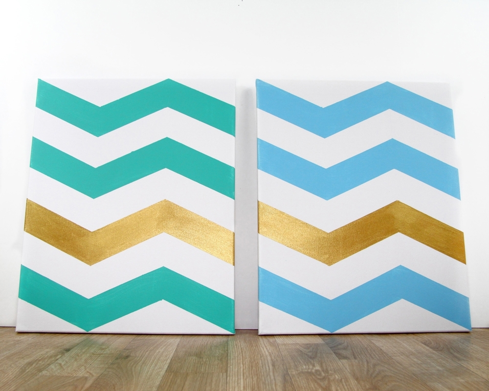 How To: Chevron Wall Art | | Regale Magazine Throughout 2017 Chevron Wall Art (View 6 of 20)