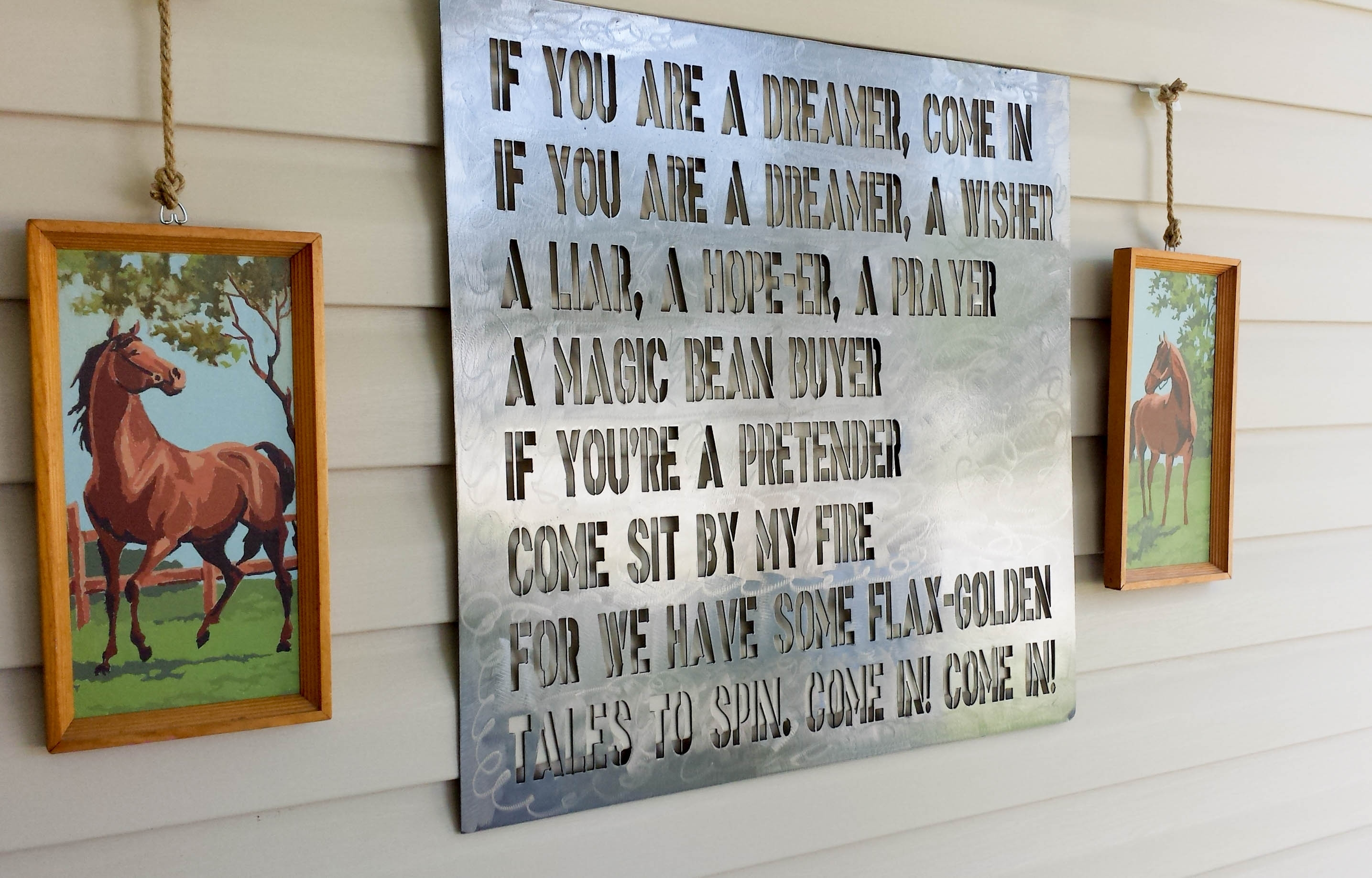 How To Hang Decor On Vinyl Siding Our Storied Home Shel Silverstein Throughout Most Recent Outdoor Wall Art Decors (View 4 of 20)