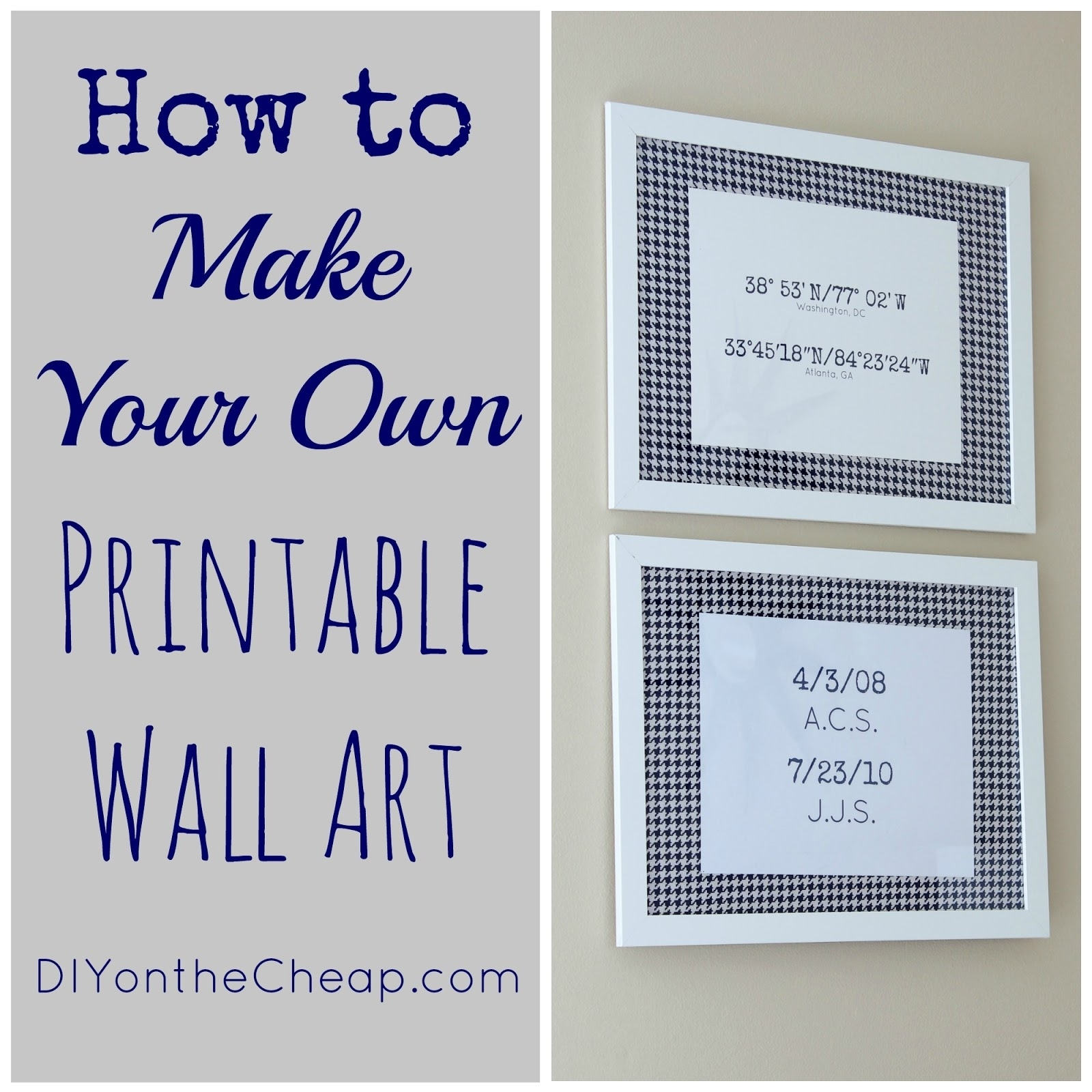 How To Make Your Own Printable Wall Art Erin Spain, Printable Wall With Regard To 2018 Free Printable Wall Art Decors (Gallery 18 of 20)