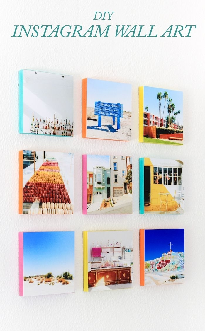 How To Turn Your Instagram Photos Into Wall Art | Bloggers' Best Diy With Latest Instagram Wall Art (Gallery 2 of 20)
