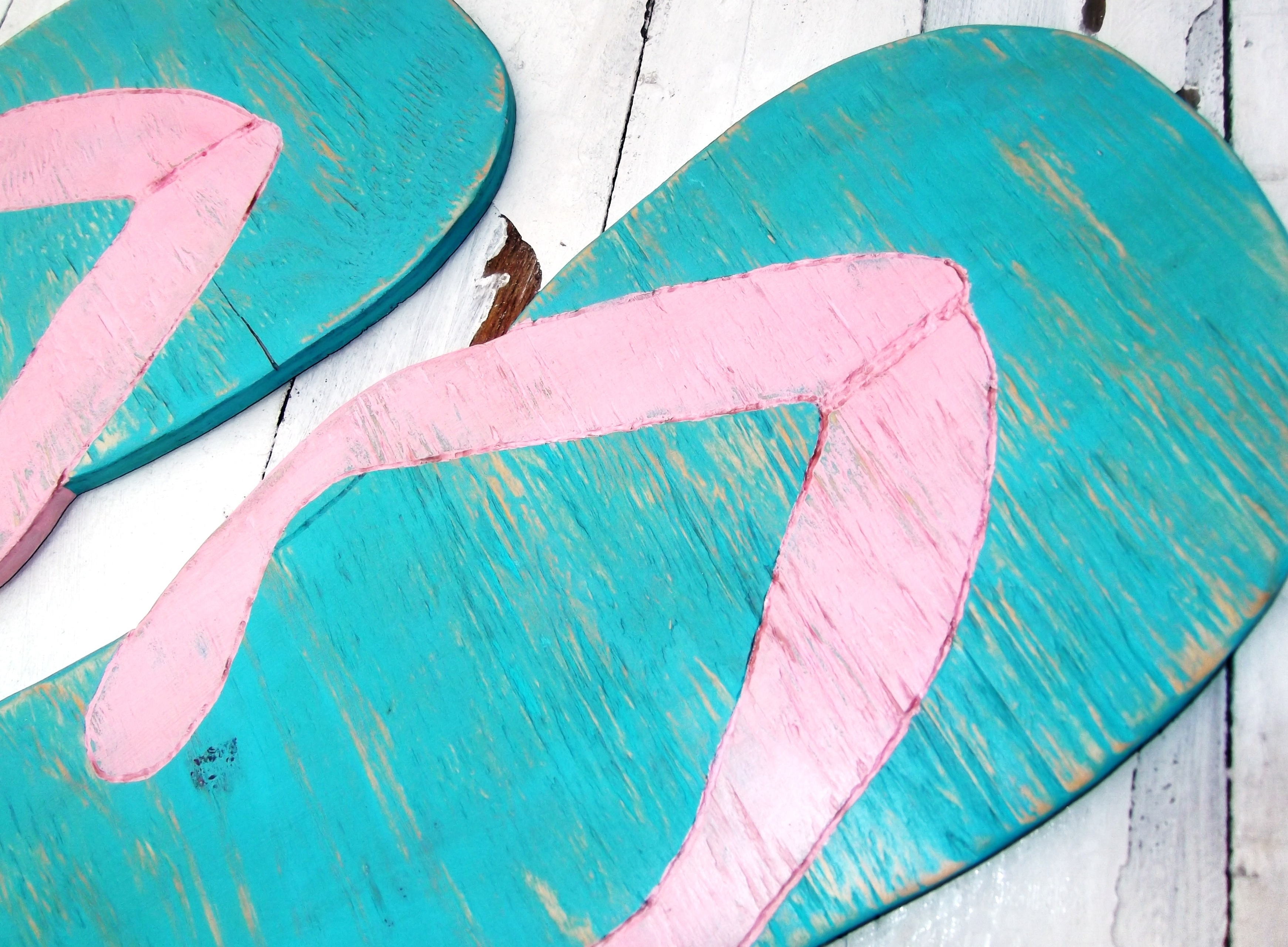 Huge Flip Flops Beach House Decoration, Wedding Decor Supersized Within Most Popular Flip Flop Wall Art (View 2 of 15)