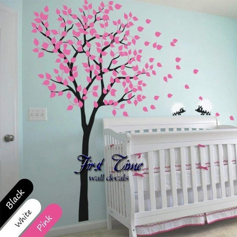 Huge Tree Hedgehog Wall Sticker Nursery Wall Art Baby Children Kids Intended For Recent Baby Room Wall Art (View 11 of 20)