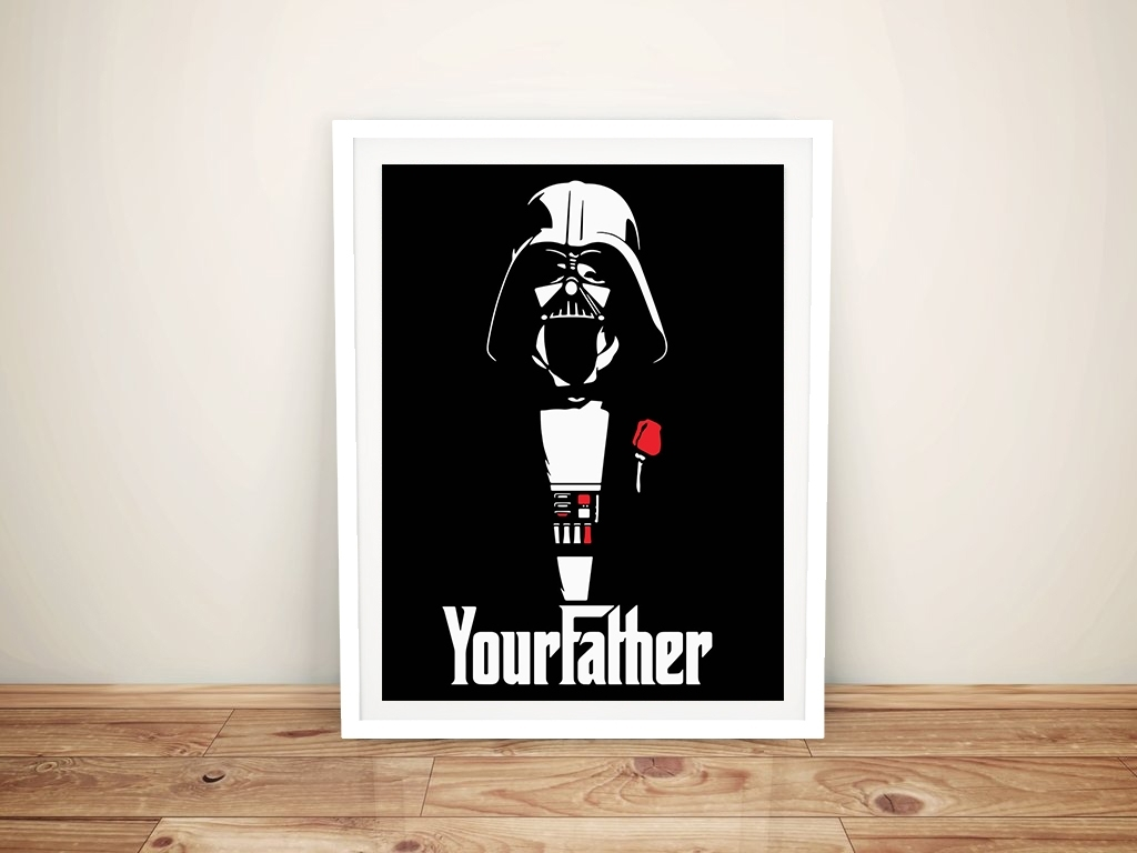 I Am Your Father Godfather Star Wars Pop Art Canvas Print In Best And Newest Darth Vader Wall Art (View 11 of 20)