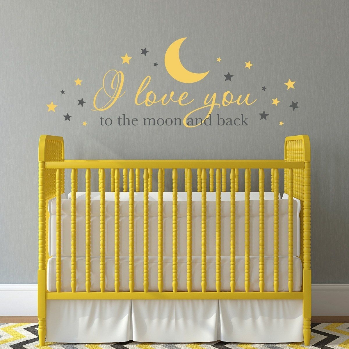 I Love You To The Moon And Back Wall Decal – Nursery Decal – Baby With Regard To Most Current I Love You To The Moon And Back Wall Art (View 5 of 20)