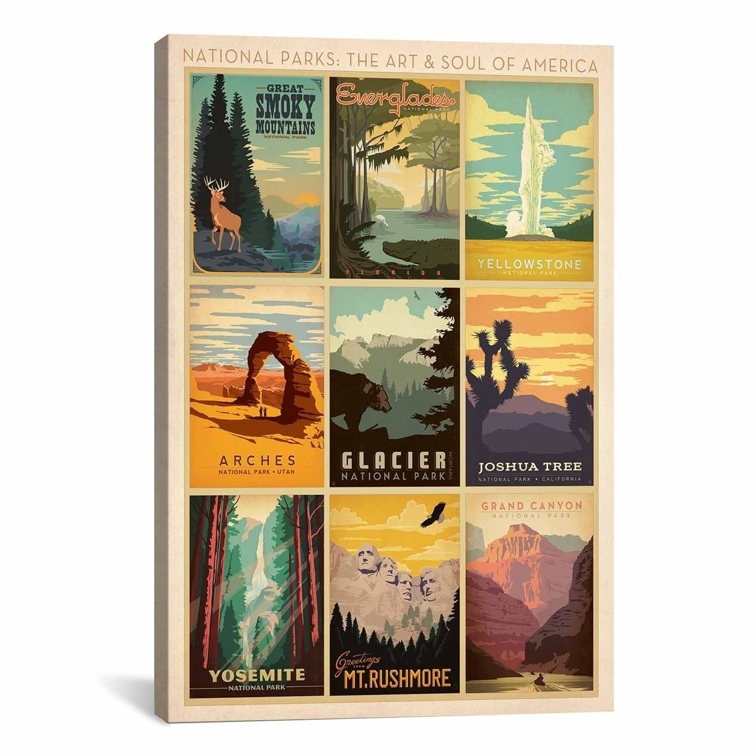 Icanvasart Anderson Design Group National Park Collection Canvas For Most Popular Overstock Wall Art (View 8 of 20)