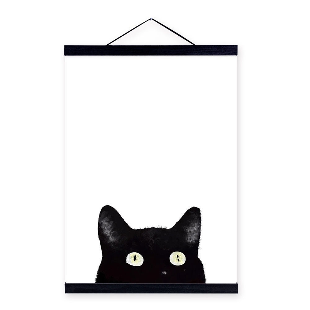 Ik  3Pcs Modern Black Cat Canvas Wall Painting Poster Art Home Decor With Regard To Newest Cat Canvas Wall Art (Gallery 15 of 20)