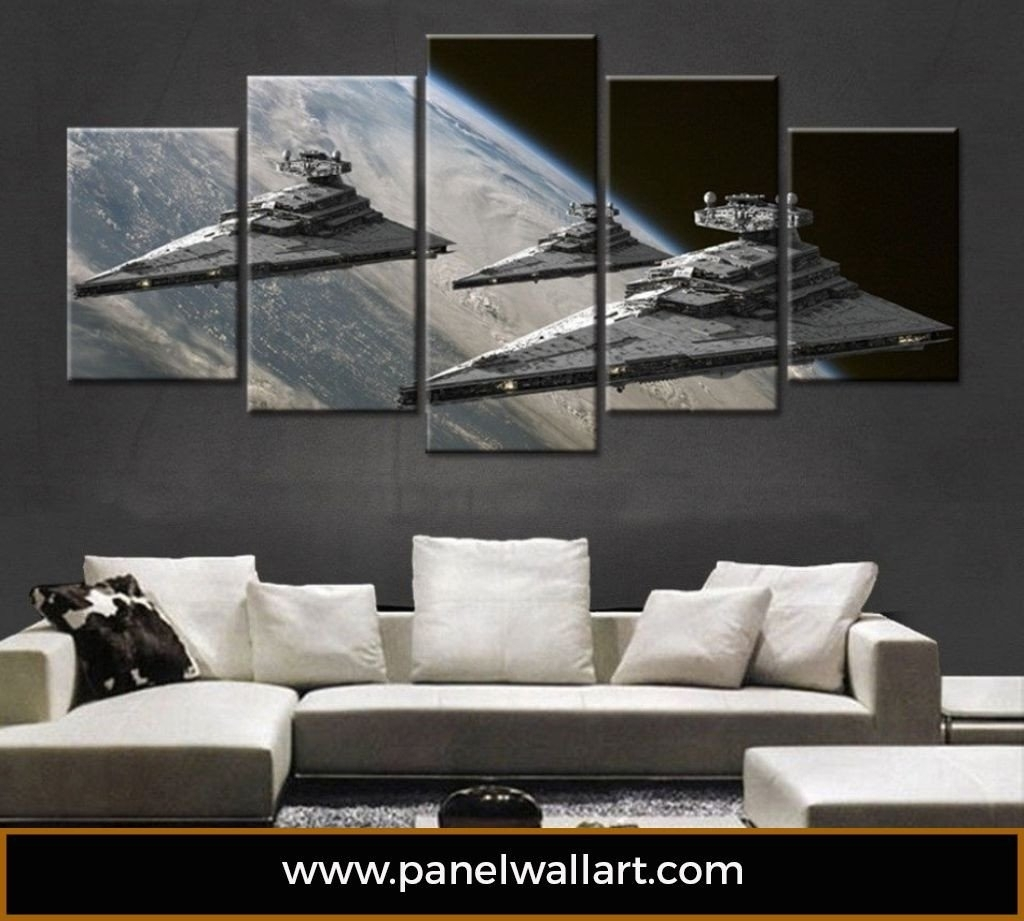 Imperial Star Destroyer – Panelwallart Regarding Latest Star Wars Wall Art (View 1 of 15)