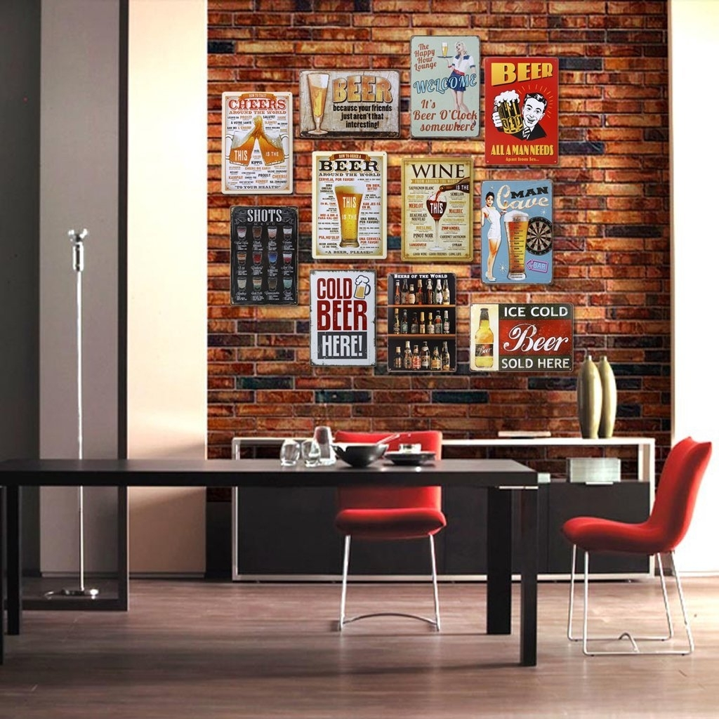Imported 20x30cm Vintage Metal Tin Sign Plaque Wall Art Poster Cafe Throughout Recent Tin Wall Art (Gallery 17 of 20)