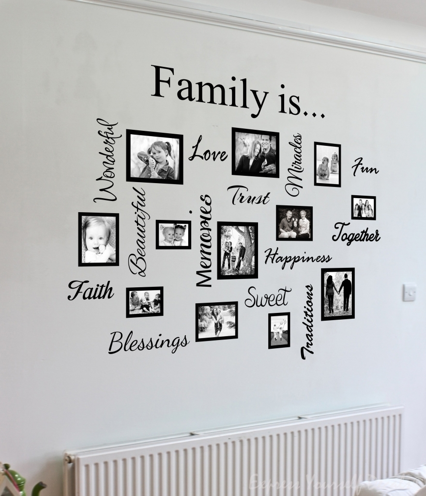 Impressive Family Name Metal Wall Art Family The Ones We Family With Regarding Most Current Word Wall Art (Gallery 14 of 20)