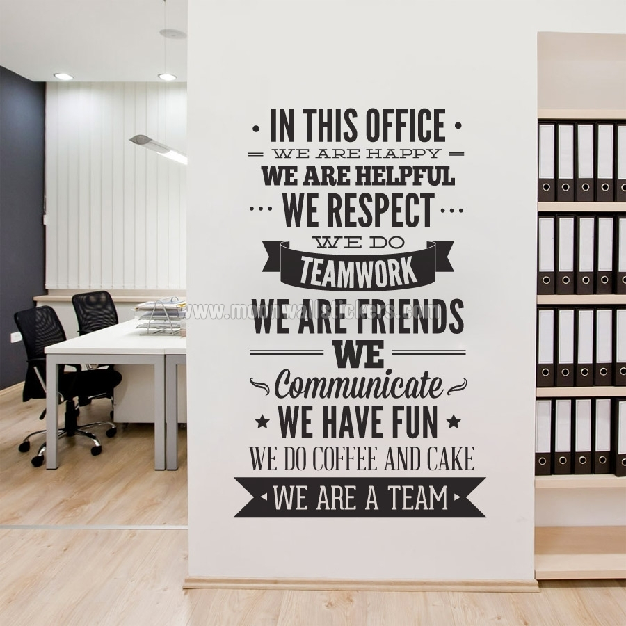 In This Office Typography Sticker – Moonwallstickers For Most Popular Office Wall Art (View 4 of 15)