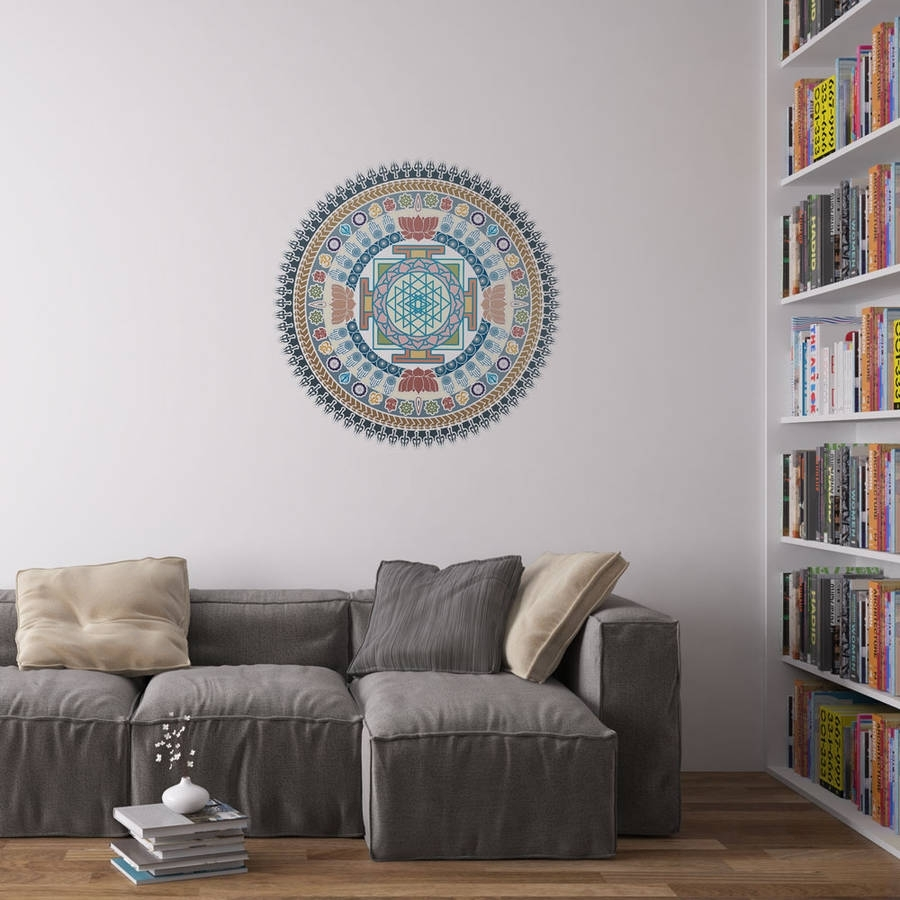 Indian Spiritual Mandala Wall Art Stickervinyl Revolution With Regard To Best And Newest Mandala Wall Art (View 6 of 20)