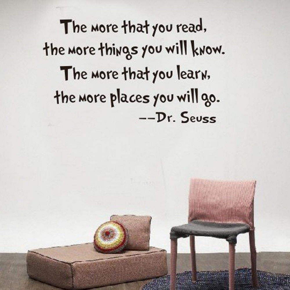Inspirational Dr. Seuss Quotes Wall Stickers Removable Decal Home For Most Current Dr Seuss Wall Art (Gallery 20 of 20)