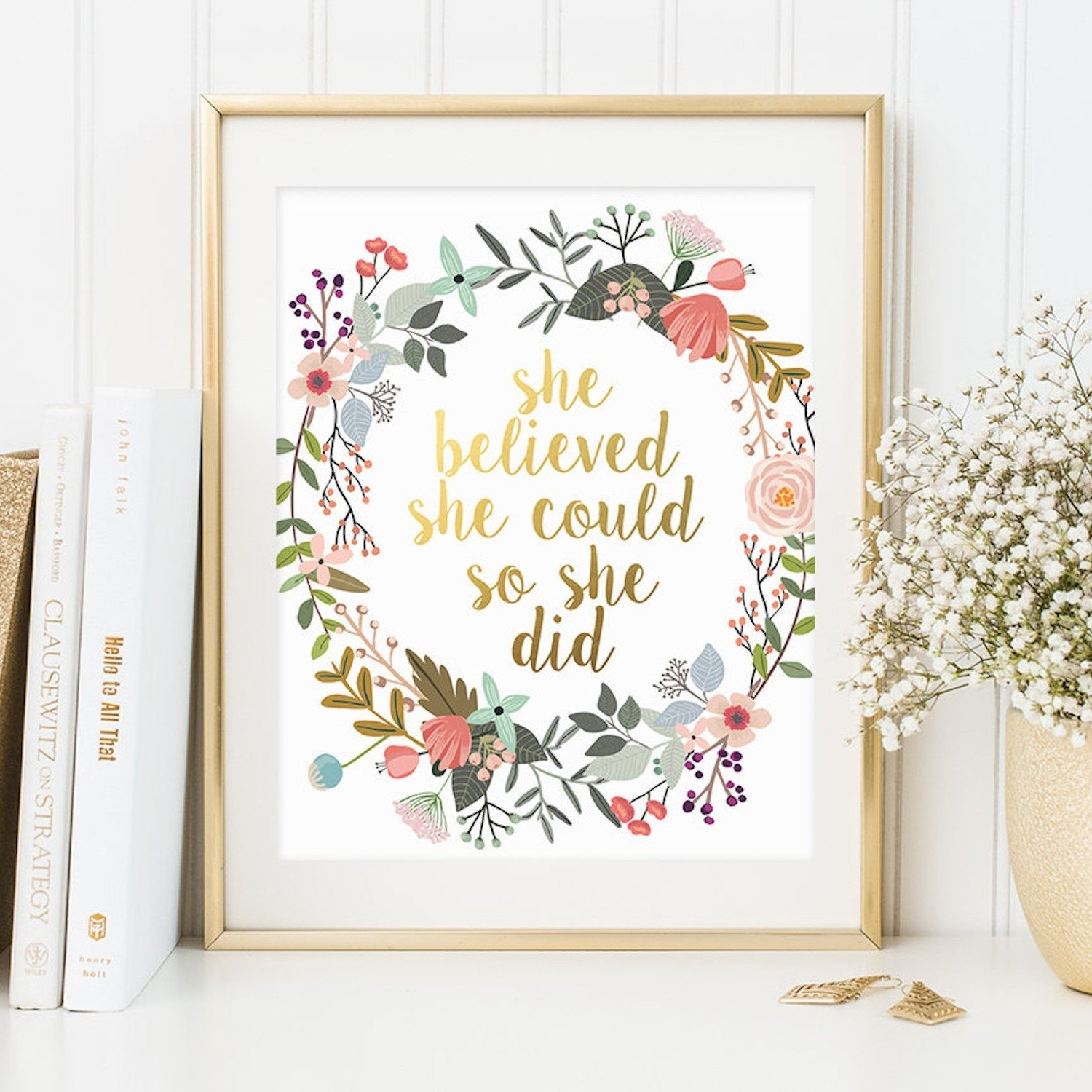Inspirational Quote Wall Art | Popsugar Moms With Regard To Most Current Quote Wall Art (View 9 of 20)