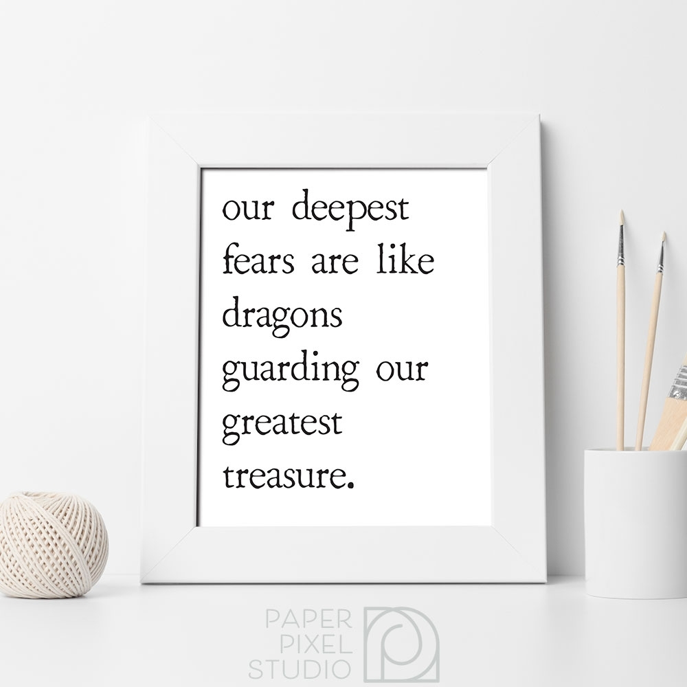 Inspirational Wall Art, Printable Wall Decor, Minimalist Home Decor Throughout Most Current Inspirational Wall Art (View 9 of 15)