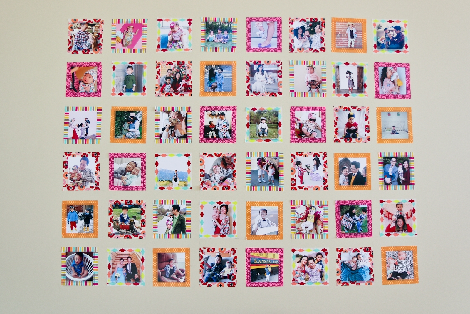 Instagram Wall Art With Washi Tape | Diy | Sandyalamode For Most Up To Date Instagram Wall Art (Gallery 11 of 20)