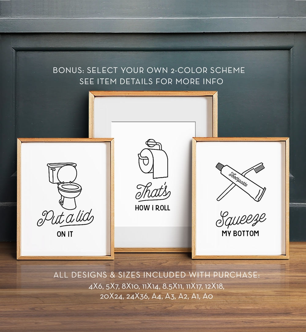 Install The Best Bathroom Wall Art To Enhance The Décor And Grace Of Pertaining To Most Recently Released Bathroom Wall Art (View 3 of 15)