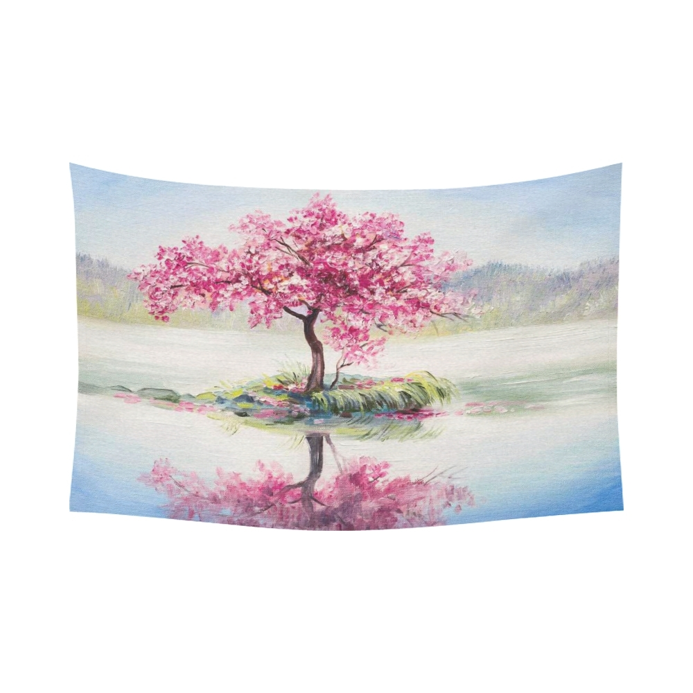 Interestprint Oil Painting Landscape Wall Art Home Decor, Cherry For Most Recently Released Cherry Blossom Wall Art (Gallery 19 of 20)