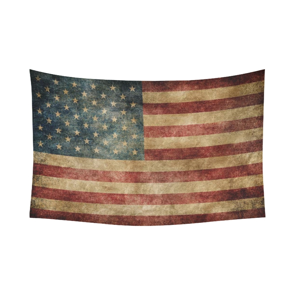 Interestprint Stars And Stripes Usa Flag Wall Art Home Decor Pertaining To Most Recently Released Vintage American Flag Wall Art (Gallery 7 of 20)