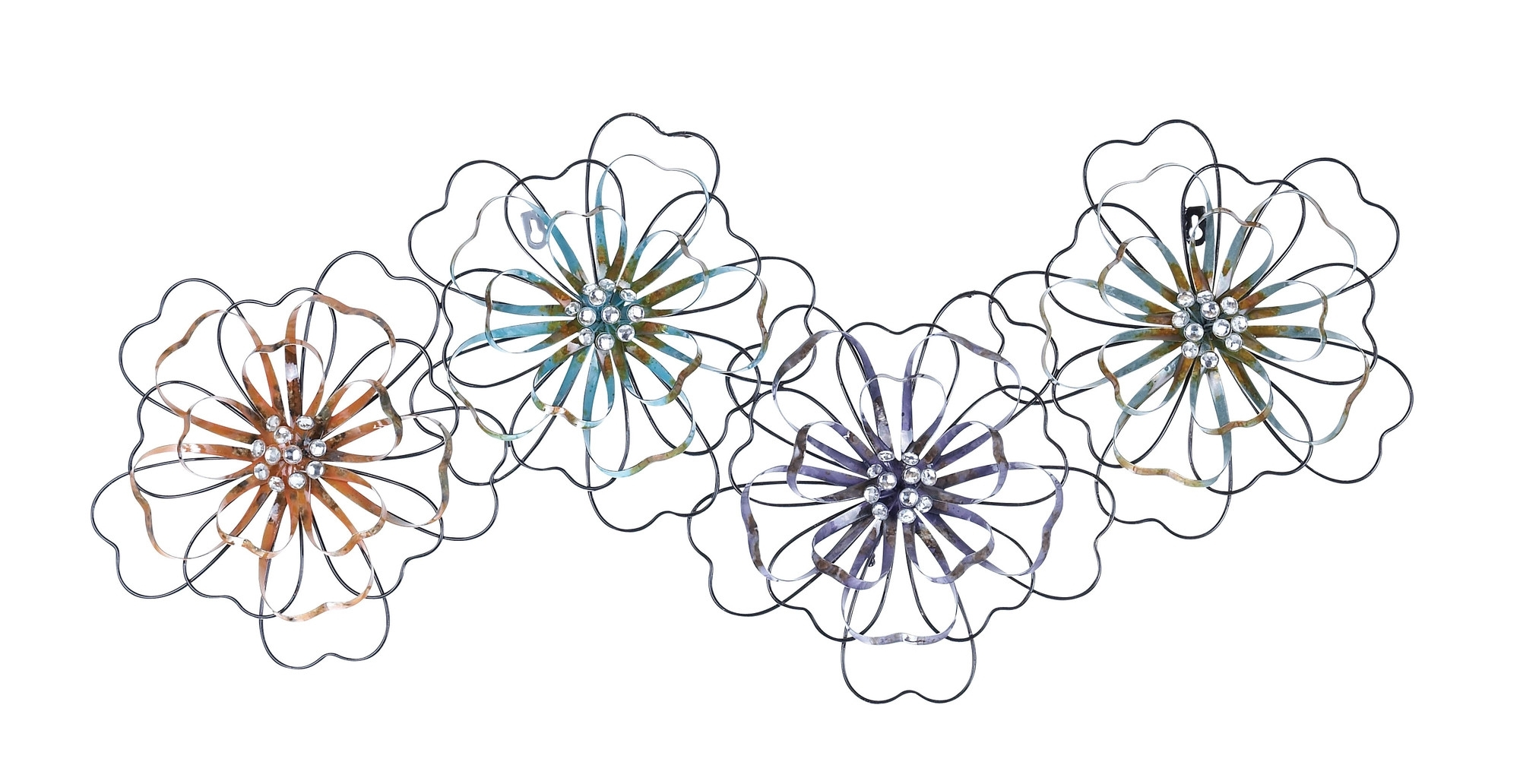 Intermingled Flowers – Floral Metal Wall Art In Recent Metal Flower Wall Art (View 10 of 15)