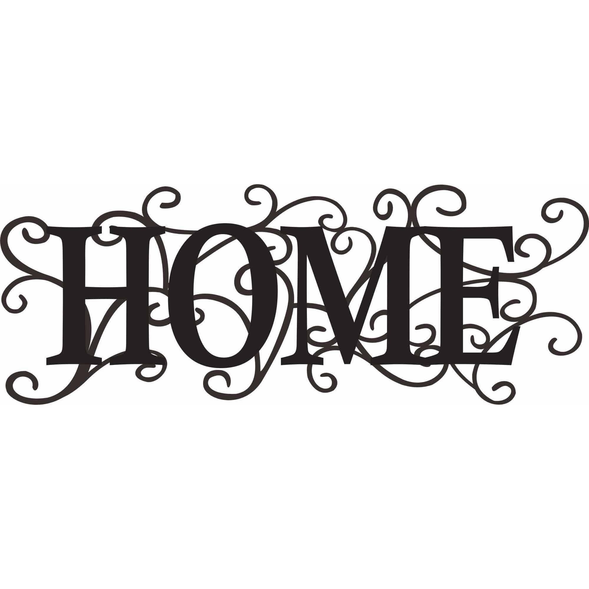 "Intricate Metal ""home"" Decor Wall Art – Walmart Regarding Current Wall Art At Walmart (Gallery 14 of 20)"