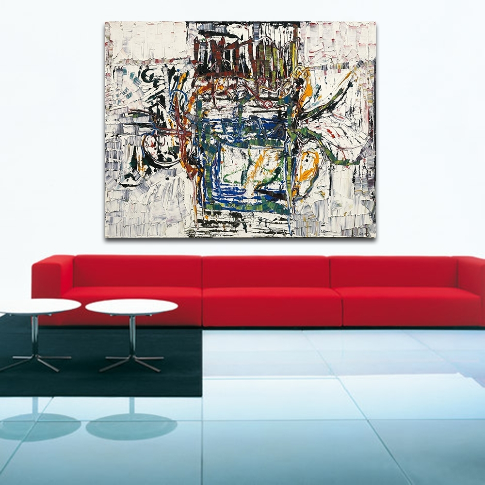 Jackson Pollock Style Living Room Modern Wall Art Painting Picture Inside Latest Living Room Painting Wall Art (View 9 of 20)