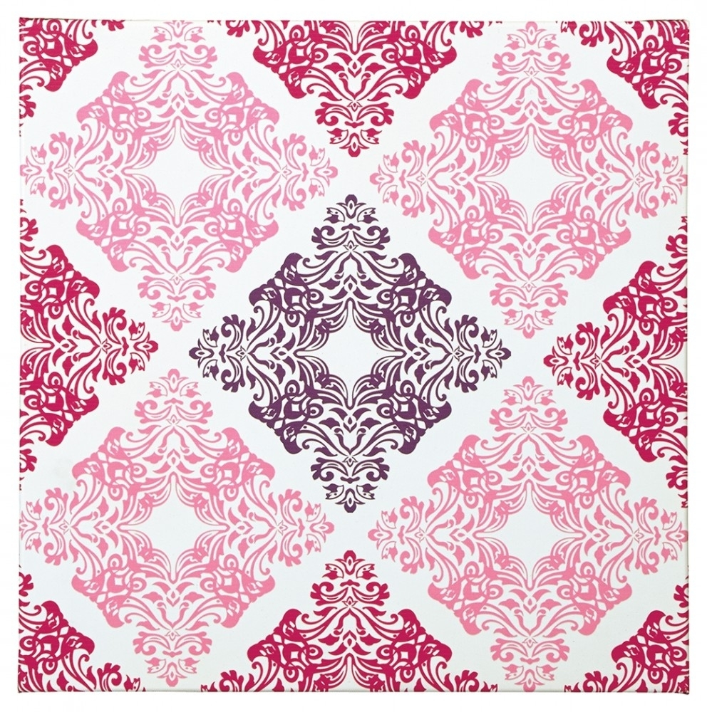 Jadine – White/pink – Wall Art | A8000161 | Wall Art | Price Busters Throughout Most Recently Released Pink Wall Art (View 12 of 20)