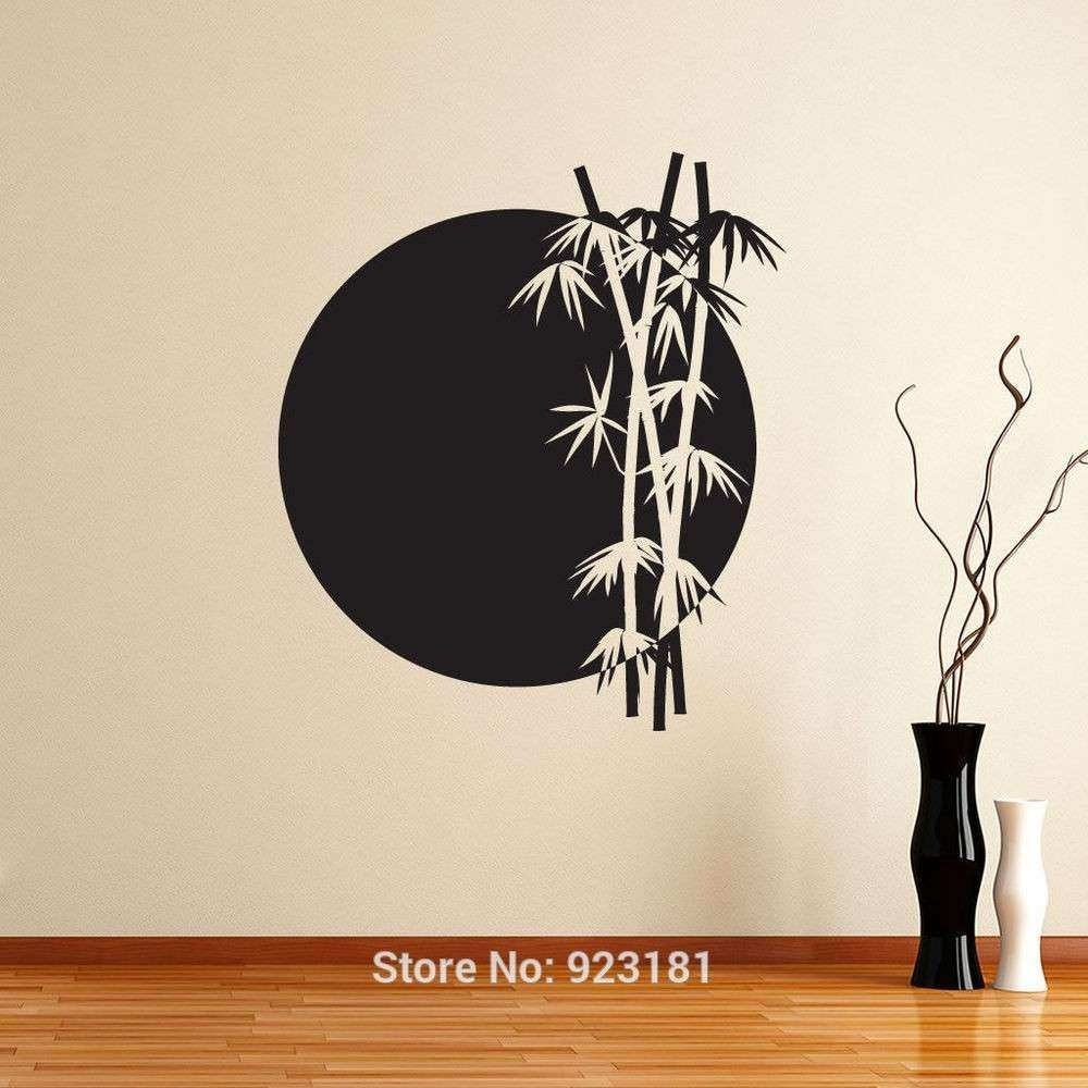 Japan Wall Decor Elegant Wall Art Design Ideas Grey Moon Japanese Throughout 2018 Japanese Wall Art (View 2 of 20)