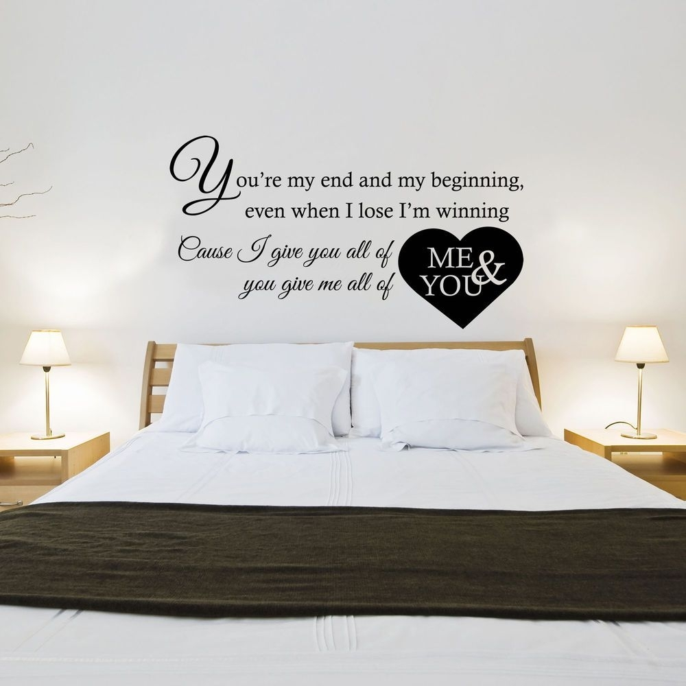 John Legend – All Of Me Song Lyrics – Wall Art Sticker Decal Pertaining To Newest Song Lyric Wall Art (Gallery 5 of 20)