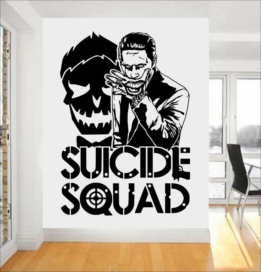 Joker Samobójstwo Squad Wall Art Naklejka Projektowanie Mody With Most Current Joker Wall Art (View 13 of 20)