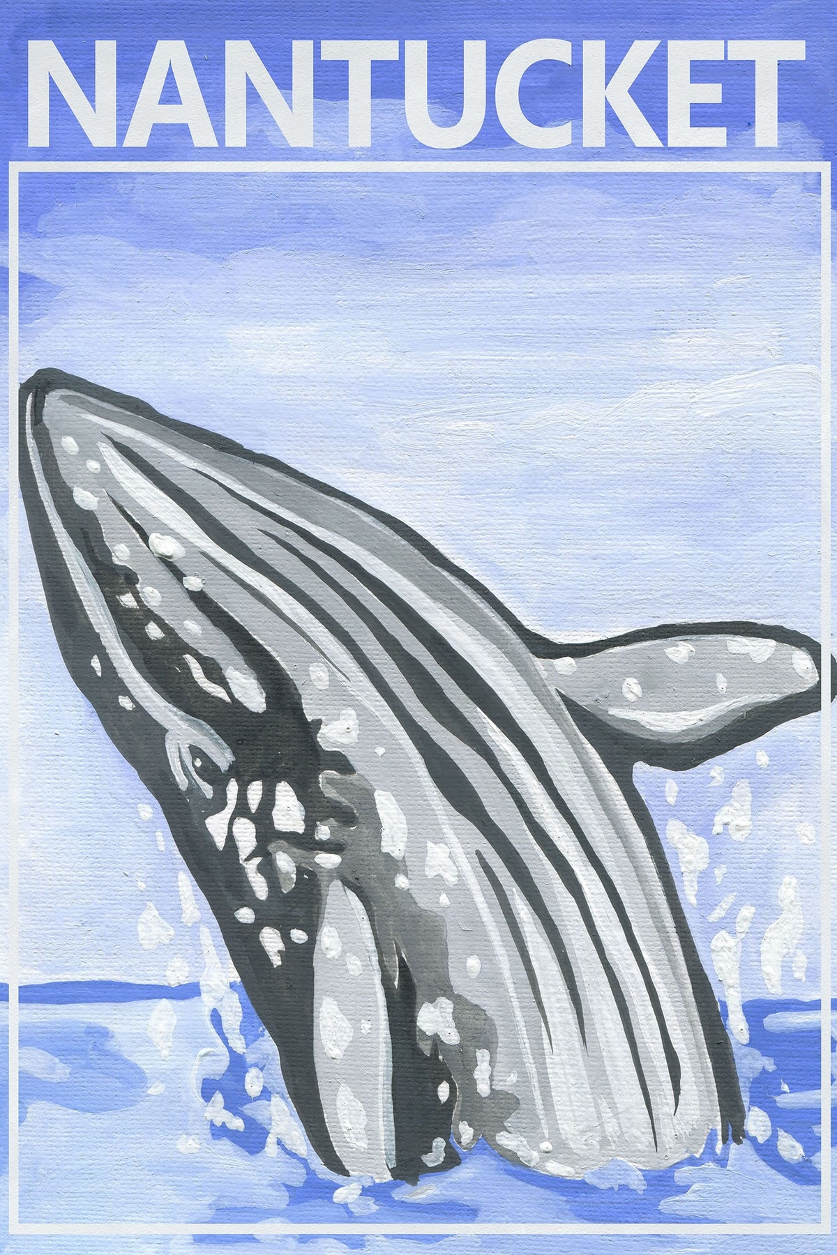 Jumping Whale Canvas Wall Art | Temple & Webster In Most Up To Date Whale Canvas Wall Art (Gallery 17 of 20)
