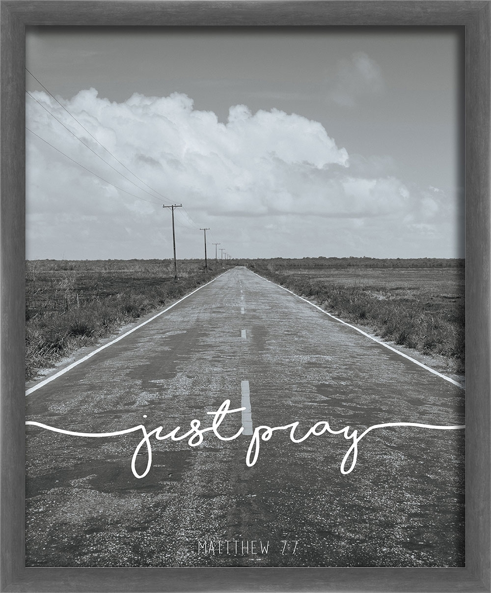 Just Pray Black And White Ii Wall Art Photo - Living31 intended for Current White Wall Art