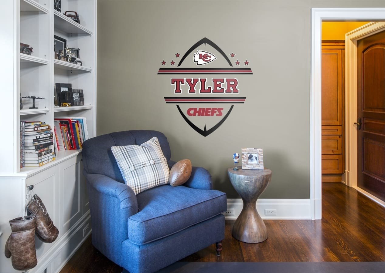 Kansas City Chiefs Personalized Name Wall Decal | Shop Fathead® For Inside Recent Kansas City Wall Art (Gallery 20 of 20)