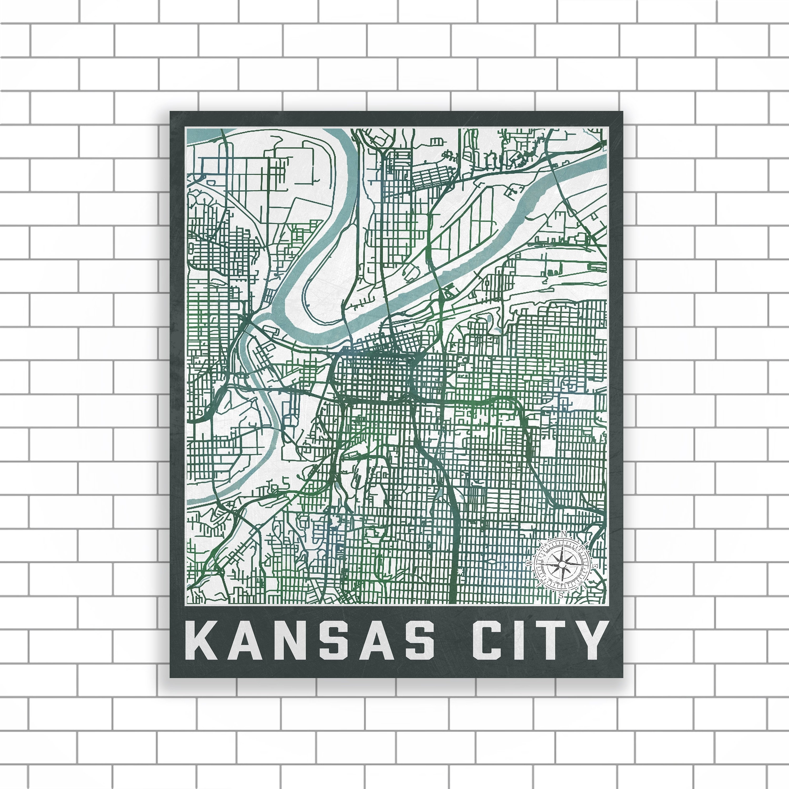 Kansas City, Missouri, Kansas City Map, Street Map, Map Of Kansas Intended For Most Current Kansas City Wall Art (Gallery 18 of 20)