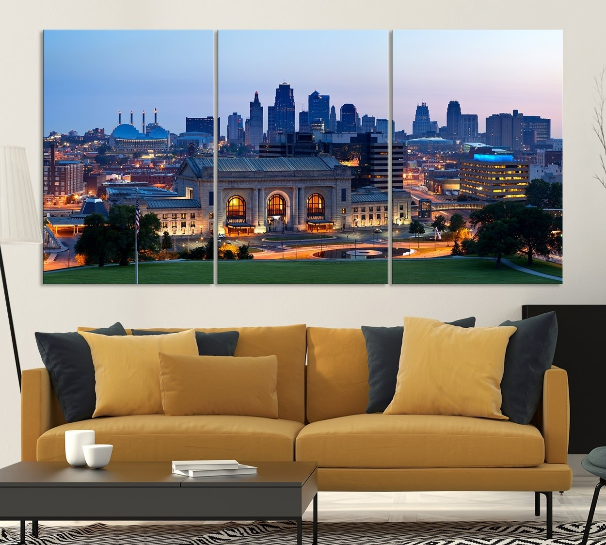 Kansas City Night Skyline Wall Art Canvas Print, Kansas City In Most Up To Date Kansas City Wall Art (View 15 of 20)