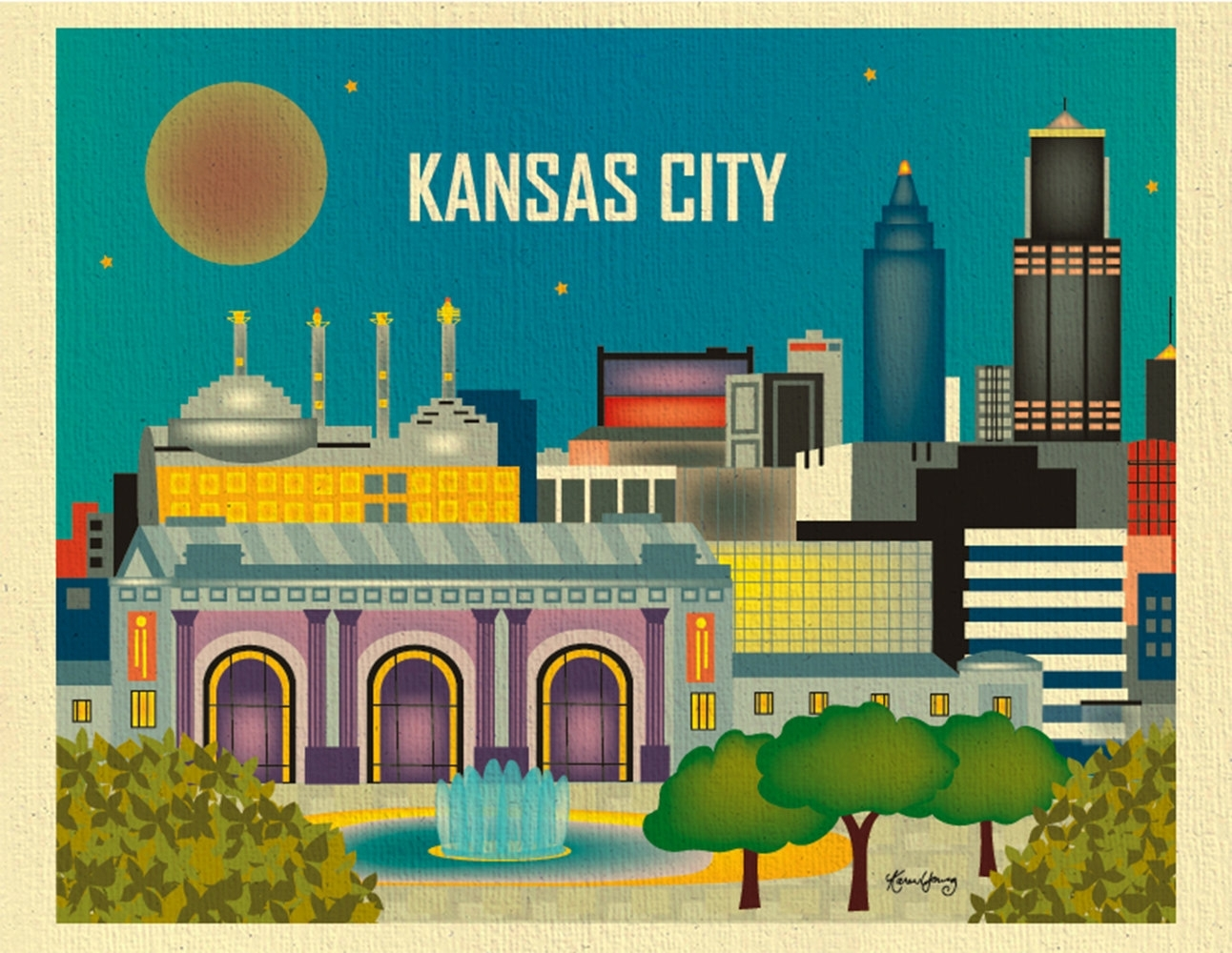Kansas City Wall Art – Elitflat Pertaining To Most Recently Released Kansas City Wall Art (View 9 of 20)