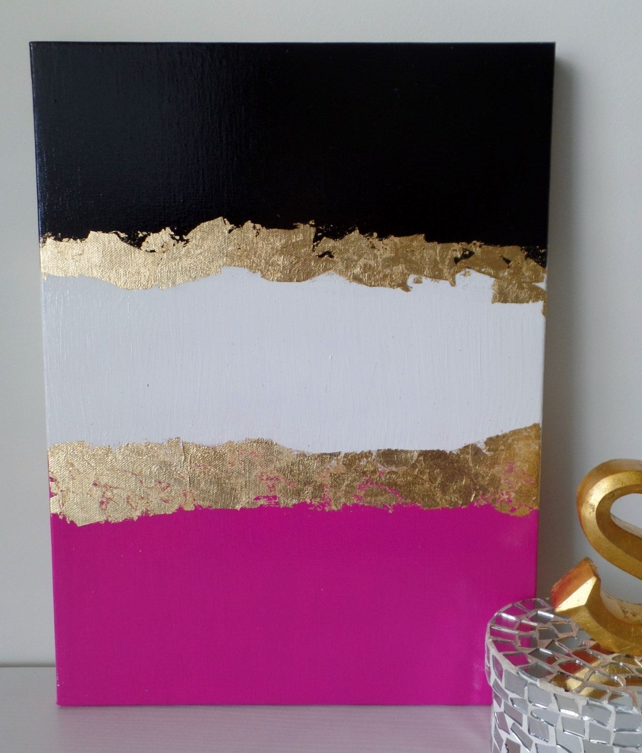 Kate Spade Decoration Inspired, Dorm, Acrylic Canvas Painting, Black In Best And Newest Kate Spade Wall Art (Gallery 17 of 20)