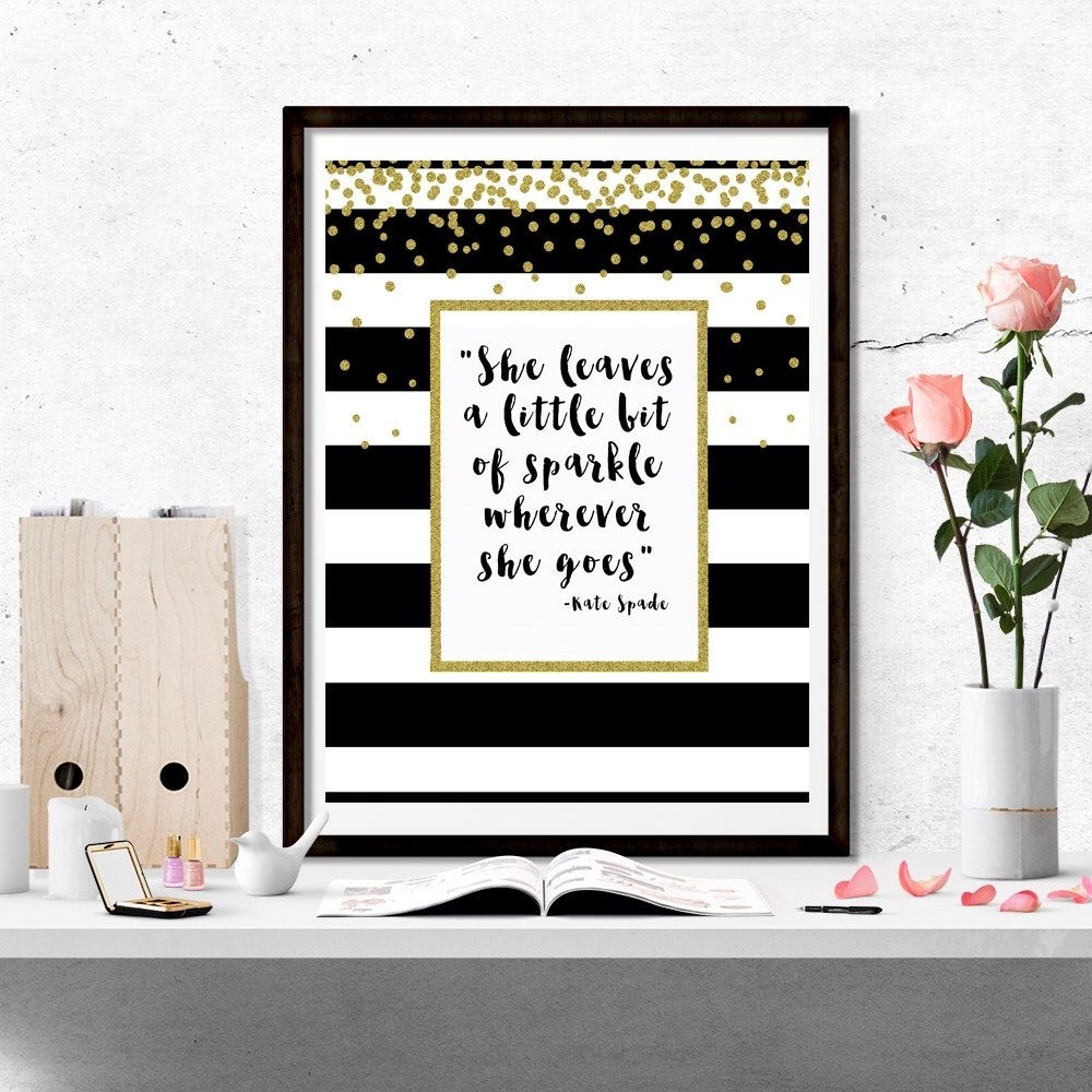 "Kate Spade ""she Leaves A Little Bit Of Sparkle Wherever She Goes For Most Current Kate Spade Wall Art (Gallery 3 of 20)"