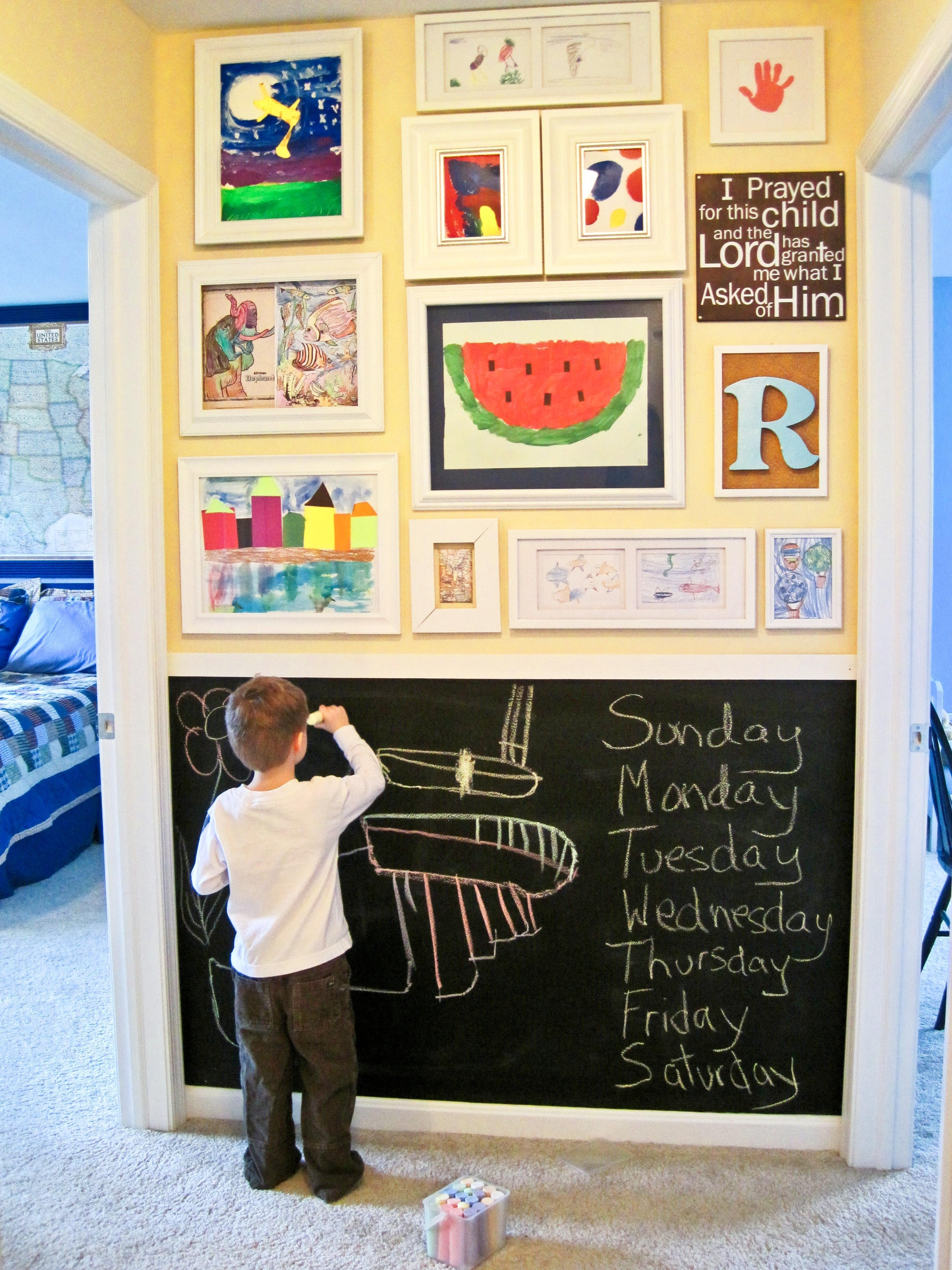 Kids-Art-Gallery-Wall in 2018 Kids Wall Art