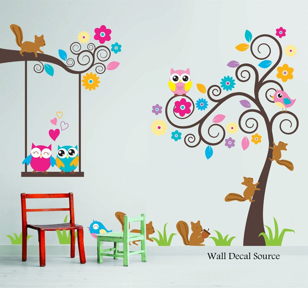 Kids Wall Decals – 2 – In Decors Regarding Current Kids Wall Art (Gallery 12 of 15)