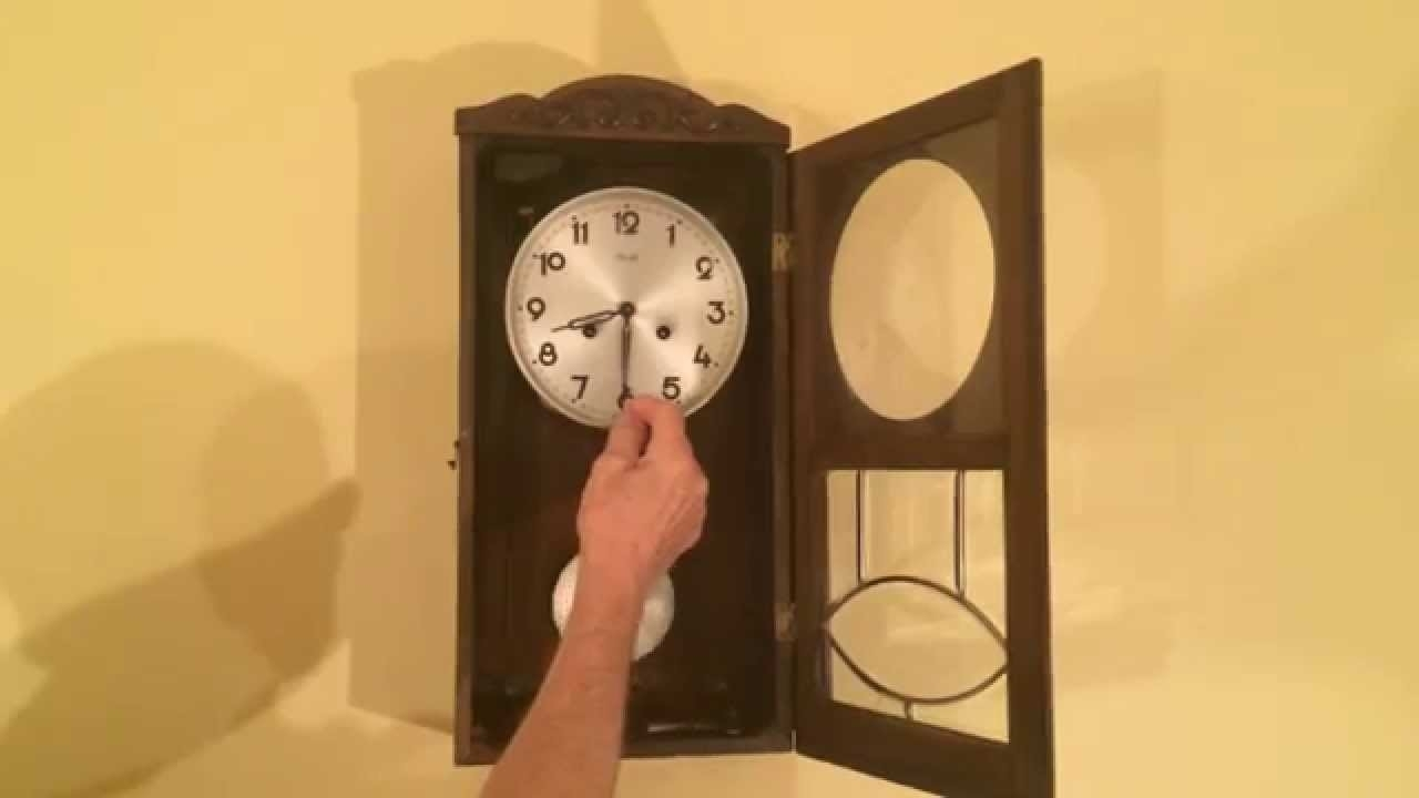 Kienzle Art Deco Wall Clock With - Youtube inside Current Art Deco Wall Clock
