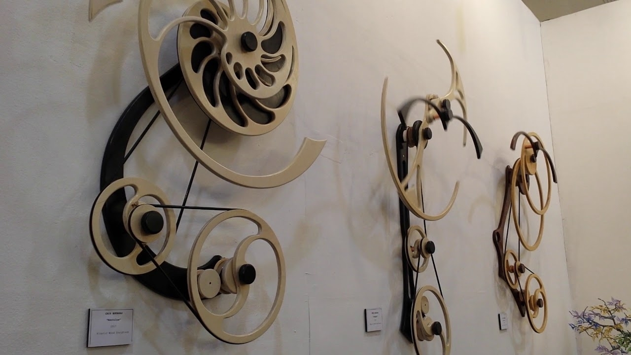 Kinetic Wood Sculpture, Moving Art – Youtube Intended For Most Popular Kinetic Wall Art (Gallery 4 of 20)